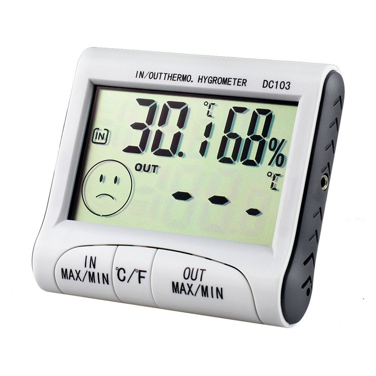 Hot selling indoor outdoor temperature humidity meter with high quality DC103