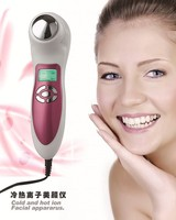 Skin care cold and hot ion electrical facial cleaning device and facial massage