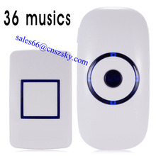 Plug-in doorbell wireless doorbell for the deaf with strong blue flasher LED CE ROHS 300m US EU plug doorbell