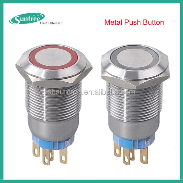 AC DC Metal Push Button Micro Switch 16mm Touch Button Switch