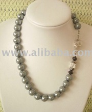 gray pearl with swarovski
