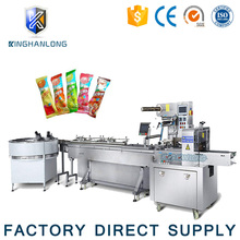 factory price automatic feeding lollipop candy wrapper packing packaging machine