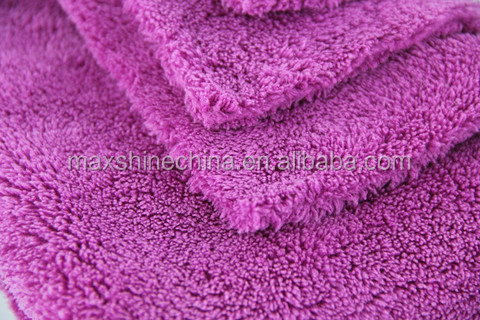 2015 popular auto care 600gsm plush edgeless microfiber car towel