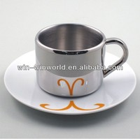 Wholesale Promotional Gift Stainless Steel Coffee Cups And Saucers