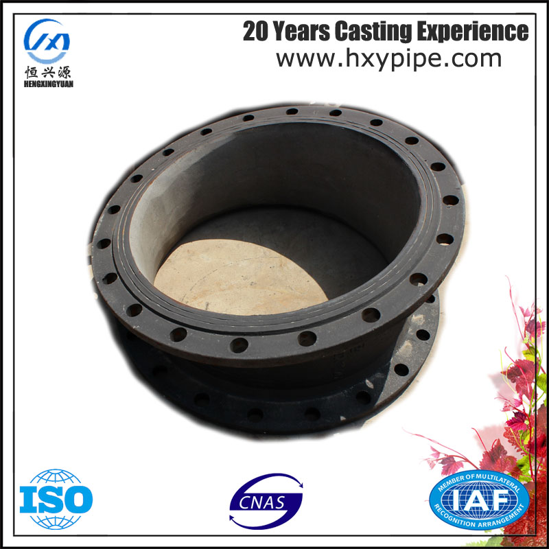 100% Water Pressure Test Ductile Iron Cement Mortar Lining Double Flanged