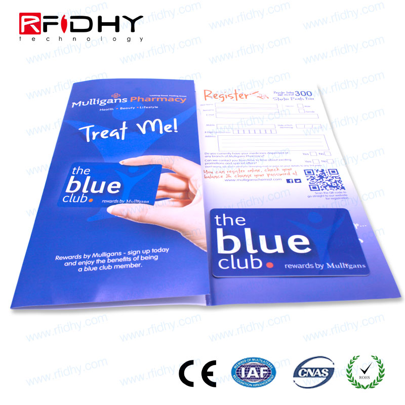Paper event tickets with chip rfid card magnetic ticket paper for event and meeting