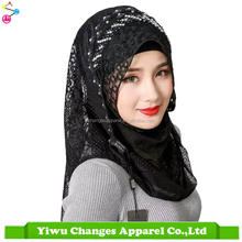 Luxury brand Glitter Shinny Islamic Real Silk Scarf Malaysia