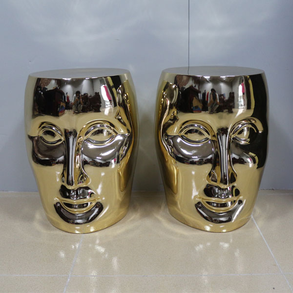 Electroplated resin crafts creative face chair