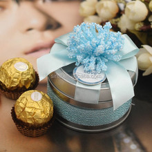 Personalized Wedding Candy Box Tin Can