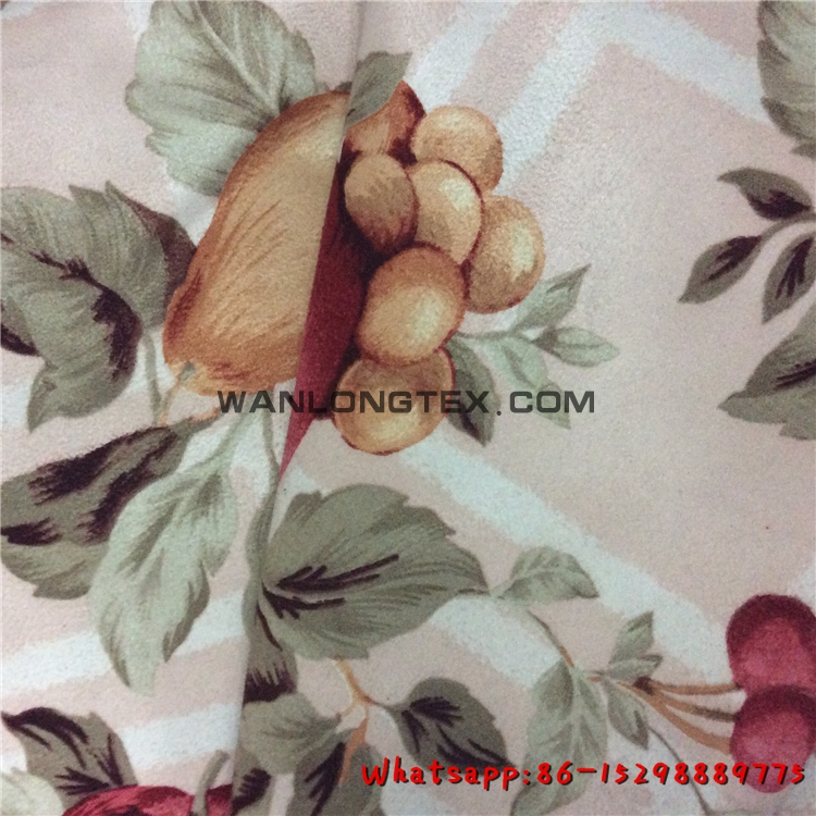 100% Polyester Printed suede fabric factory china