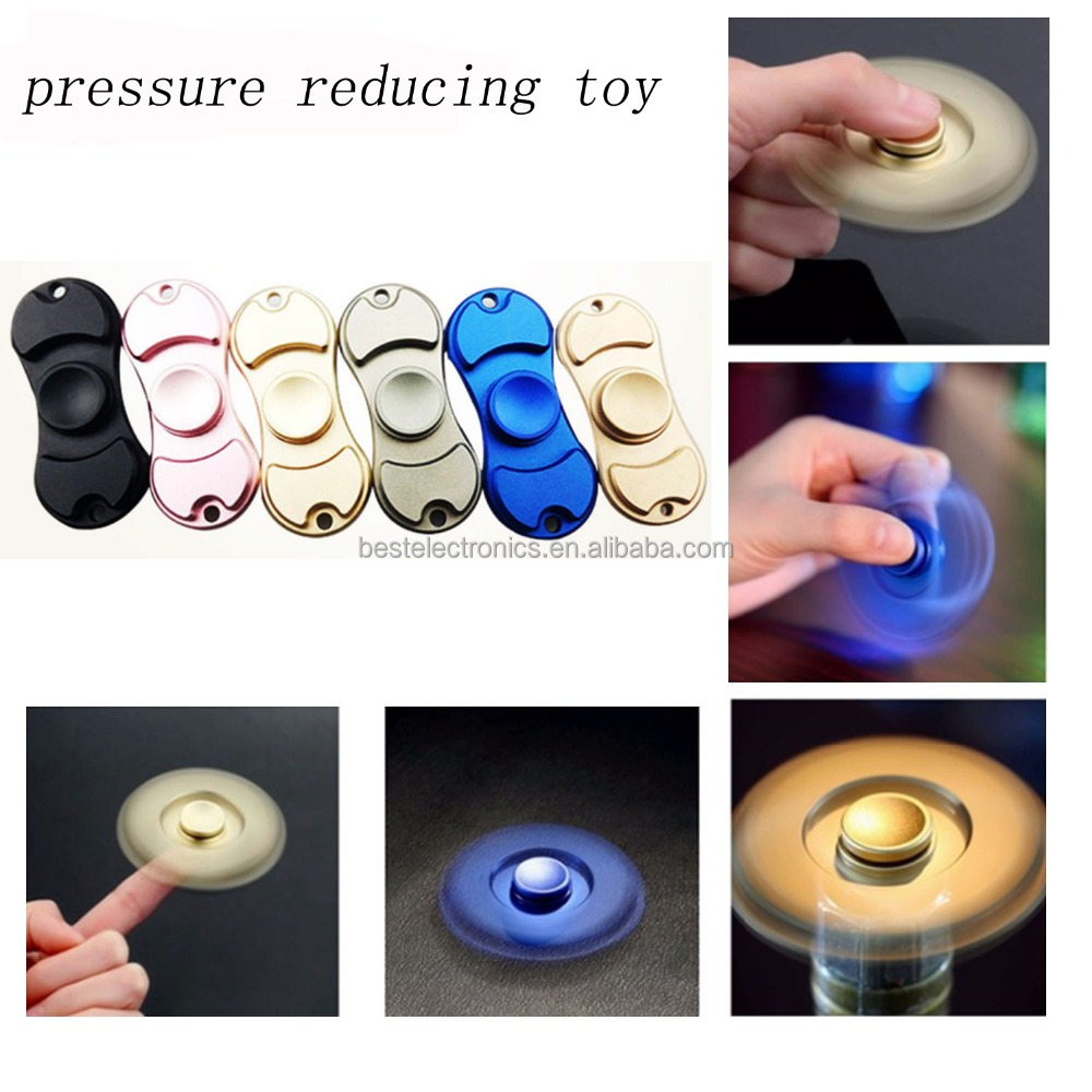 FACTORY SALES Aluminum Fidget Finger Spinner Hand Focus Ultimate Spin EDC Bearing Stress <strong>Toys</strong>