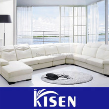 Home furniture living room modern leather sectional sofa