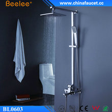 "Beelee BL0603 Luxury Shower Set Rainfall Bathroom Shower Faucet with 8"" Top Shower Head"