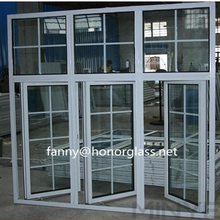 Exterior PVC casement windows home design, doors and windows from China