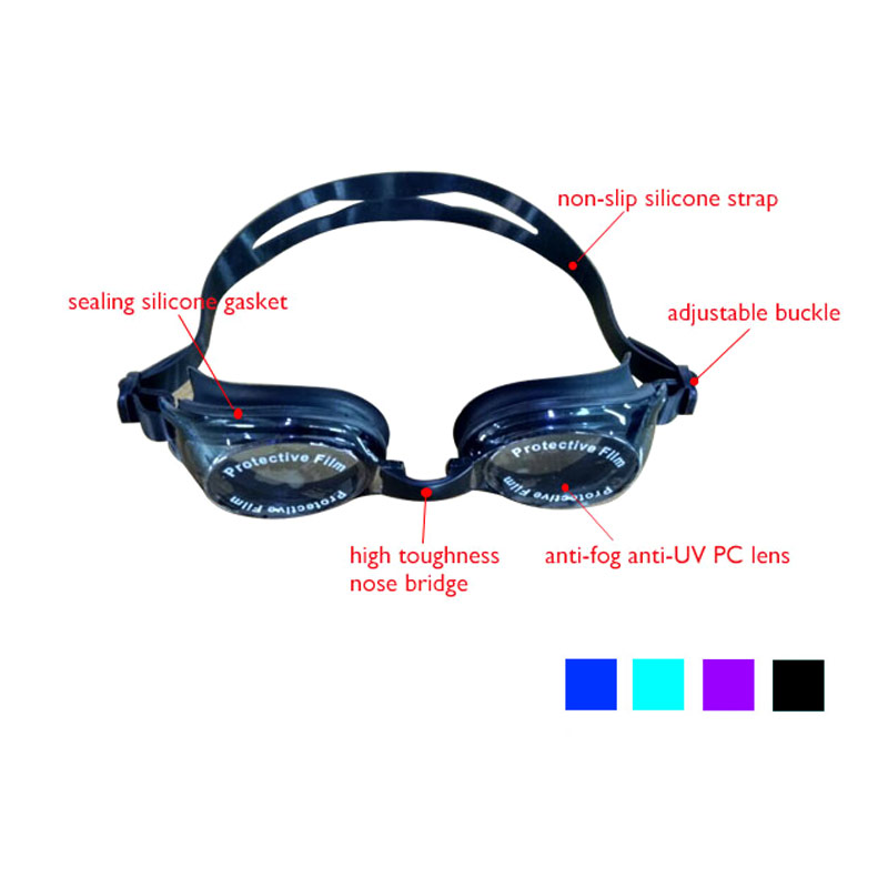 Customized High Quality Fashionable Adult Reflective Swimming Goggles