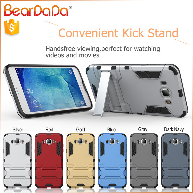 Shockproof kickstand handphone cover for samsung galaxy j7 2016