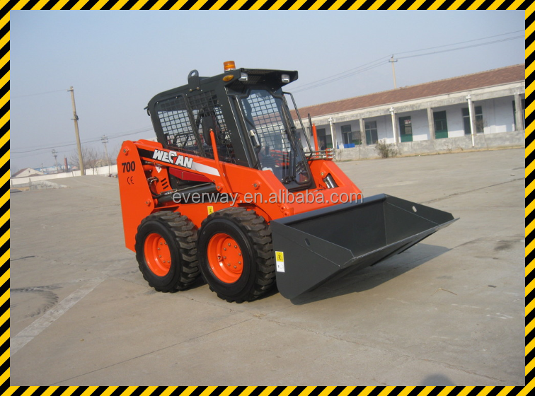 China cheap wecan 700kg mini skid steer loader for sale