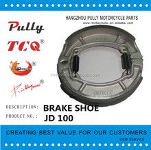 High Quality Motorcycle Part From Chinese JD100 Motorcycle Brake Shoe