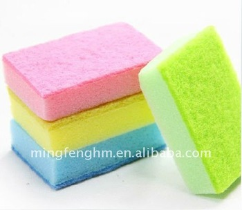 moderate size scouring pad sponge Make cleaner 4 Colors for your choice