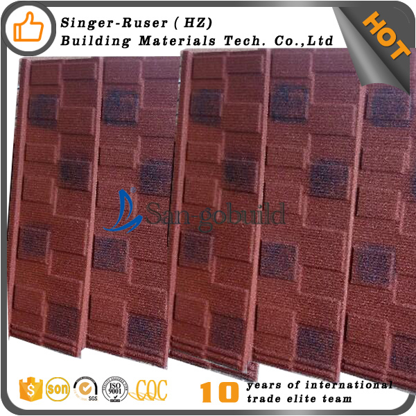 High Quality Natural stone granule coated steel roofing tile with Good Price