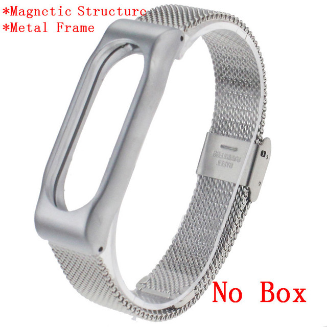New Arrival Smart Wristband Band Strap For Xiaomi Mi Band 2 Smart Bracelet Miband 2 Replacement  Metal & PU Leather Wrist Strap