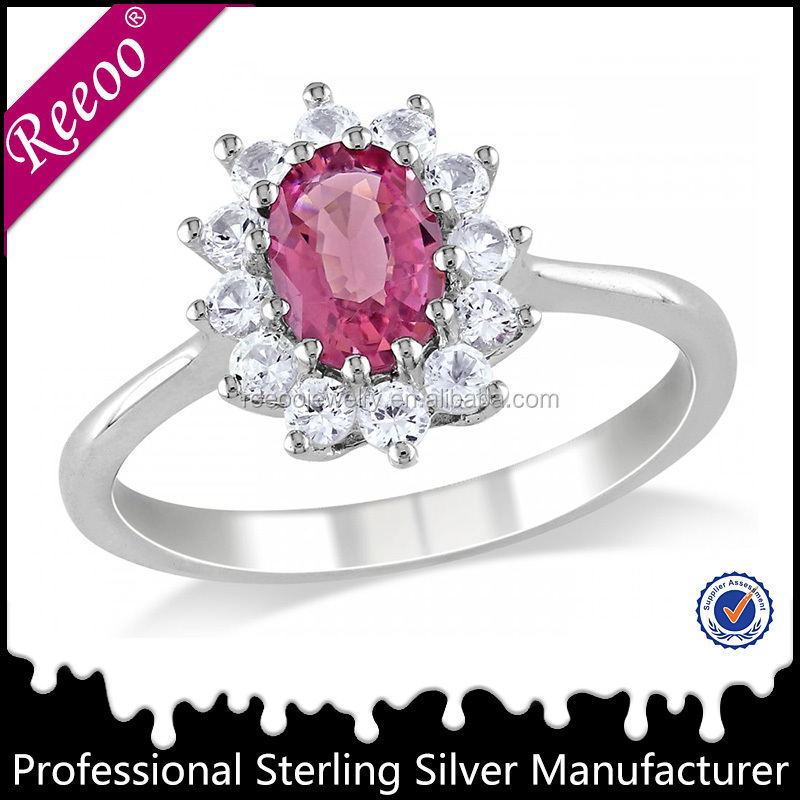 Jewelry Manufaturer 925 silver ring jewellery Rhodium plated ring in stock