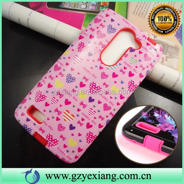 Stylish Mobile Phone Back Cover Design Combo Case For LG L Bello Hybrid