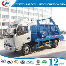 Mini 4CBM 4cubic 4CM3 swing arm skip loader garbage truck