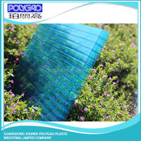 High quality pc four wall hollow sheet,8mm to 20mm thickness polycarbonate four wall hollow sheet/pc sheet