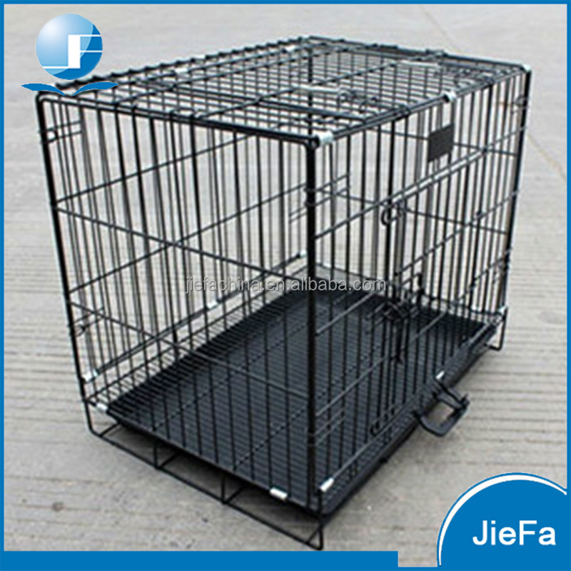 Folding wire pet crate