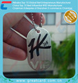 Customized Die-Cut Stainless Steel Dog Tag With Metal String