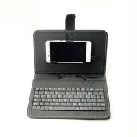 Premium pu leather phone cover tablet pc case with keyboard for all Android models