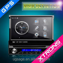 "D714SG-One Din 7"" Motorized detachable HD Touch Screen DVD Car GPS"