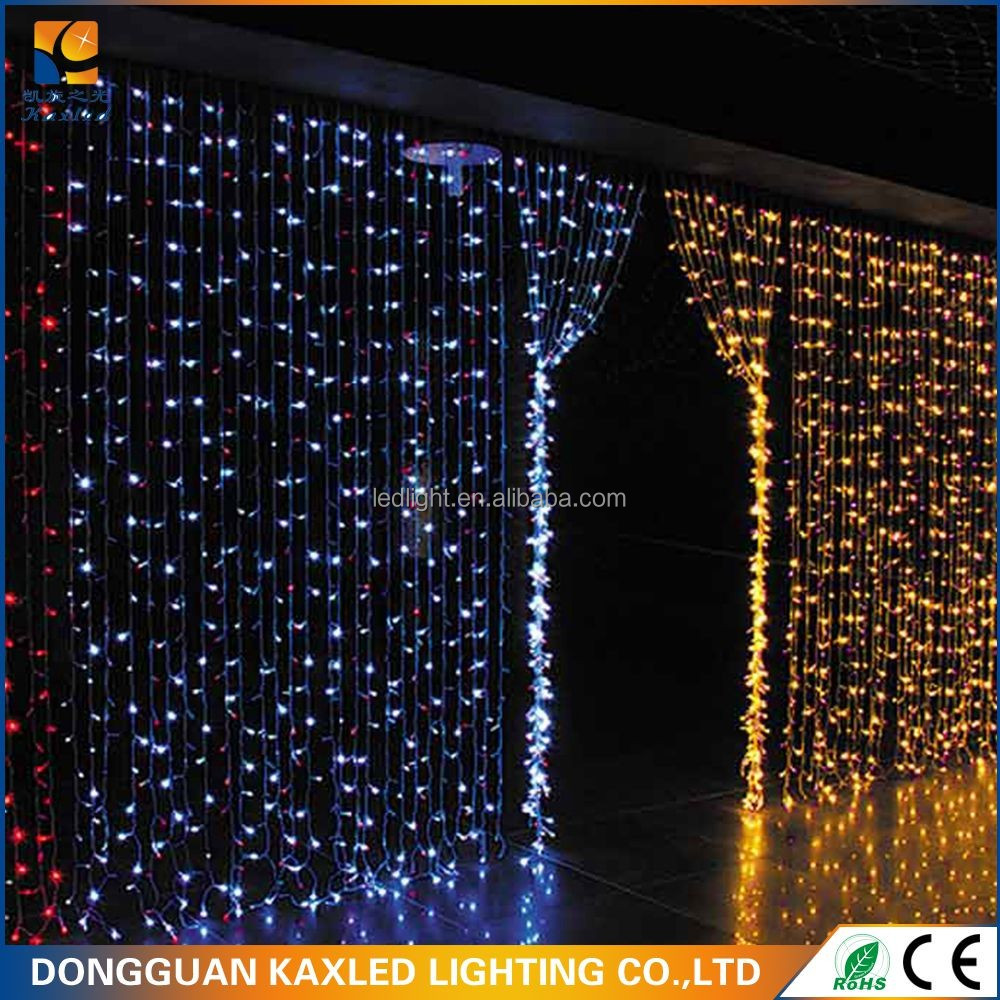 led twinkle stars curtain lights in Christmas