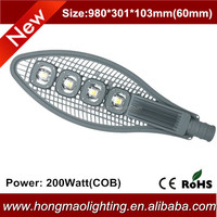 High power factory price waterproof ip65 solar led street light housing 200w