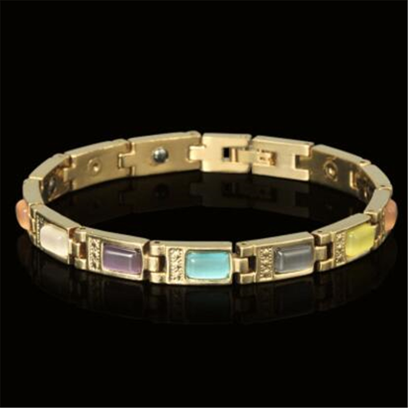 Colour the cat's eye fatigue anti-radiation magnetic women's health bracelet