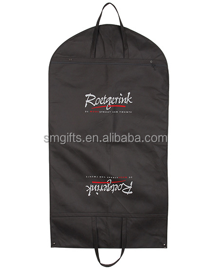 wholesale bag manufacturer cheap plastic clear garment bags with pockets