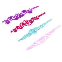 fashion twist rubber band bracelet,where to buy rubber band bracelets