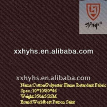350gsm 65% cotton 35% polyester flame retardant twill fabric