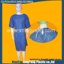 Water and blood resistance light nonwoven SMS surgical gown