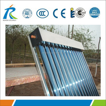 Pressurized vacuum evacuated tube heat pipe solar thermal collector