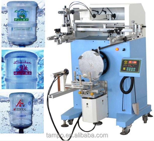 5 Gallon Mineral Water printing machine price/ Bottle Cylinder Silk Screen Printer LC-PA-400N