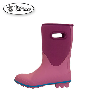 Ladies Waterproof Garden  Rubber Neoprene  Rain Boots