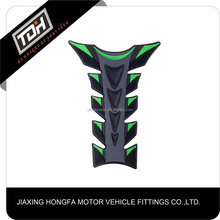 New 3D Fishbone Design Motorbike Decals Green Motorcycle Tank Pad protector