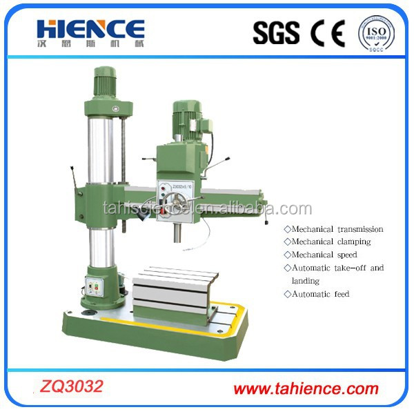 China metal 32mm drilling capacity radial drilling machine specification ZQ3032*9/10