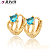 Xuping Fashion EarringJewelry Best Sale Fashion Jewelry Shinney Gemstone Hoop Earring with 18K Gold Plated High Quality Earrings