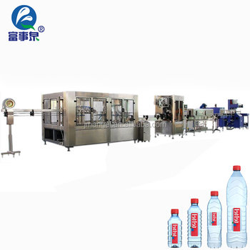 Factory sale automatic pet plastic soda mineral water bottle filling plant