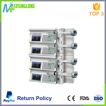 Multi function syring pump with four channel infusion pump
