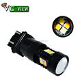 12SMD White /Amber Dual Color 3157 switchback turn light DRL T25 LED bulbs