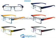 2014 New Style Wenzhou Fashion Design Metal&Plastic Unisex Full Frame Trendy as seen on TV Metal Reading Glasses (BRM3829)